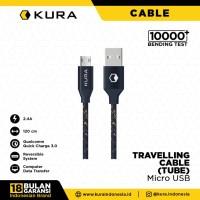 KURA Travelling Cable ( Tube ) - Kabel Data Micro USB