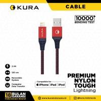 KURA Premium Nylon Tough Cable - Kabel Data Lightning