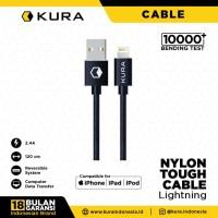 KURA Nylon Tough Cable - Kabel Data Lightning