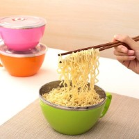 KOREAN NOODLE CUP LUNCH BOWL / MANGKOK MIE STAINLESS
