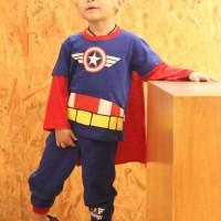 Dessan Piyama Superhero Anak Laki-Laki Capt.America Bersayap