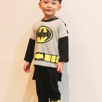 Dessan Piyama Superhero Anak Laki-Laki Batman Abu Seri 2 Bersayap