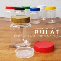Toples Sambal / Bumbu 200 ml - Toples Jar Plastik 200ml (BULAT/ROUND)