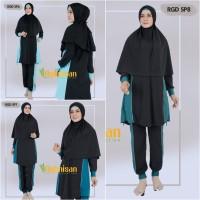 Baju Renang Muslim Muslimah Polos Syari Super Premium Aghnisan