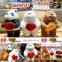 Original Miniso - Boneka We Bare Bears Festival Series Plush Doll