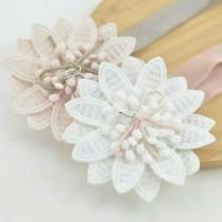 Bandana Anak | Headband Anak | White Flower
