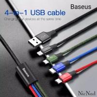 Baseus Kabel Data Rapid Series 4in1 Type C + Lightning + 2x Micro 3.5A