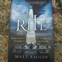 Buku Novel THE RITE Ritual Pengusiran Setan