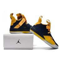 5fd76ad53e7331 Nike High Air Jordan 33 XXXIII Michigan PE Blue Navy PK Original