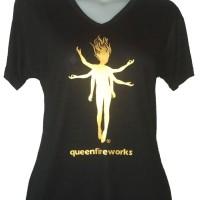 Tshirt / kaos merchandise queenfireworks black gold female
