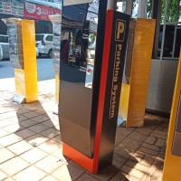 box parkir .tiket dispenser manless doble pintu acsescontrol
