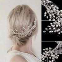 Sirkam Aksesoris Hiasan Rambut Handmade Headpiece Pesta Pengantin