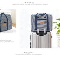 R681 Korean foldable bag motif SALUR Travel bag hand carry bag