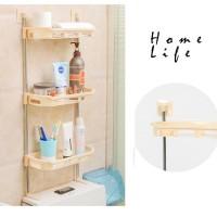 R311 3susun Rak Toilet Organizer WC Tissue Sabun Kloset Kamar Mandi