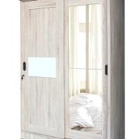 Lemari Pakaian 2 Pintu Sliding Cermin Full LPT 2006