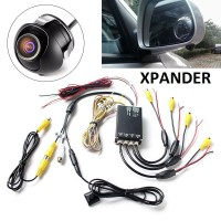 Car Camera 360 komplit modul remote Panoramic cam 4 buah