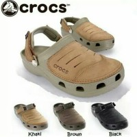(Ready Lagi)Sandal Crocs Yukon Leather Pria