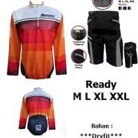 Paket Baju jersey sepeda dan celana padding keren Murmer01