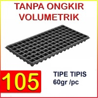 Tray semai pot bibit pembibitan 105 lubang (TIPIS)