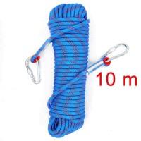 Tali Paracord Panjat Tebing Climbing Rope 10mm 10 Meter carabiner Blue
