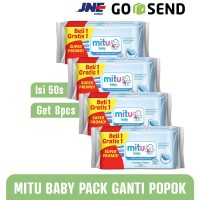 MITU Baby Wipes/Tissue Basah 50s Ganti Popok isi 8 - Blue