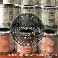 Plastik Cup Sealer Polos Bening 22oz Otomatis Mesin Sealer Juice