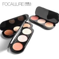 Focallure Trio Palette Highlighter / Blush On 3 Colors Origi