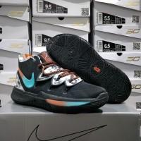 sepatu basket nike Kyrie Irving V - kyrie 5 black blue orange floral