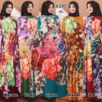 Baju Gamis Wanita Terbaru Gamis Busui Jumbo Jersey Korea 4L 8297