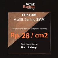 Custom akrilik potongan bning 2mm 15x15