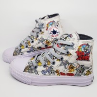 Sepatu Anak Converse Karakter Tom and Jerry model tinggi boot