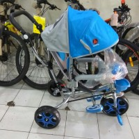 SEPEDA RODA TIGA TRICYCLE STROLLER EXOTIC 2IN1