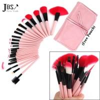 JBS New York Kuas Makeup isi 24 Brush Make up Set 24 Pink K048
