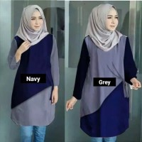Atasan Wanita Aera Tunik Blouse Baju Muslim Blus muslim