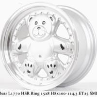 velg mobil Bear L1770 HSR Ring 15x8 H8x100-1143 ET25 Silver Machine Li