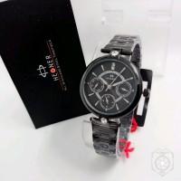 KUALITAS SUPER Jam tangan HEGNER 5003 CRONO FULL HITAM WANITA ADZB