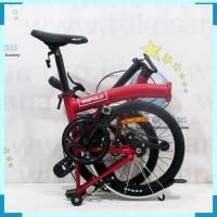FLASH SALE Sepeda Lipat United Trifold Single Speed Remaja-Dewasa 16