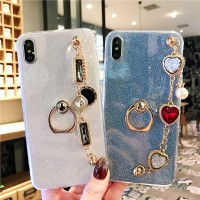 SX Glitter Casing iPhone X XS Max 5 5s 6 6s 7 Plus 4s XR Bling Gelang