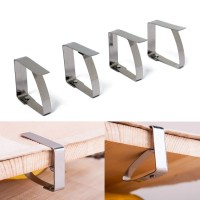 4pcs Stainless Steel Tablecloth Clip Table Cover Cloth Loaded Clamp
