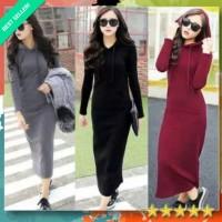 Hodie Elsa Dress wanita baju dress wanita sweater hoodie jumsuit hijab