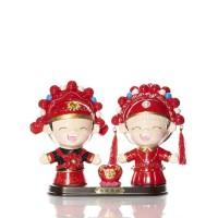 Happy China Boy & Girl Couple Figurine Love
