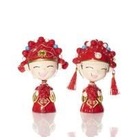 Happy China Girl & Boy Couple Figurine