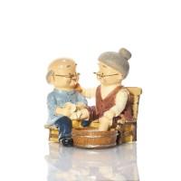 Grandma & Grandpa Couple Figurine BS258 Capodimonte
