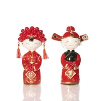 Happy China Boy & Girl Couple Figurine