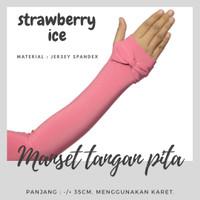 Bow Handsock Fingerless / Manset Jempol Pita