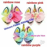 Jepit rambut Unicorn Flower Ribbon