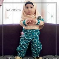 Hana Jasmine Set - Baju Muslim Balita - Gamis Anak Perempuan 5-6thn