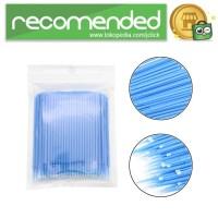 Disposable Cotton Swab Eyelash Makeup Tools 100PCS - YD14 - Biru