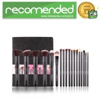 Zoreya Brush Make Up 18 Set dengan Pouch - Hitam