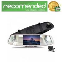 Kaca Spion Rear View DVR Dual Kamera 1080P 5 Inch Display - J001 - Hi